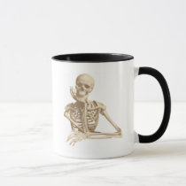 Thoughtful Skeleton Mug