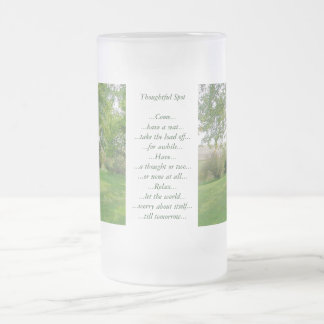 Thoughtful Spot Frosted Glass Beer Mug