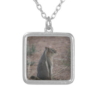 Thoughtful Squirrel Silver Plated Necklace