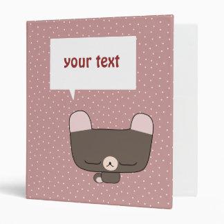 thoughtful teddy bear binder