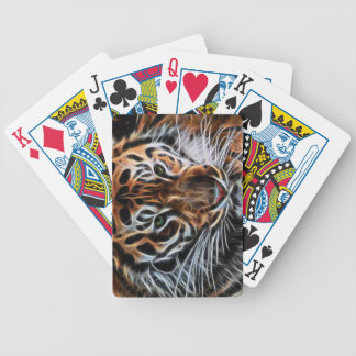 Thoughtful Tiger Bicycle Playing Cards