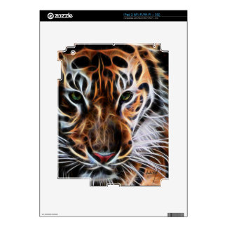 Thoughtful Tiger Decal For The iPad 2