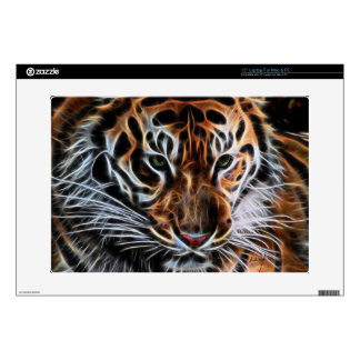 "Thoughtful Tiger Decals For 15"" Laptops"