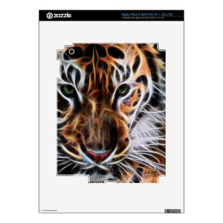 Thoughtful Tiger Decals For iPad 3