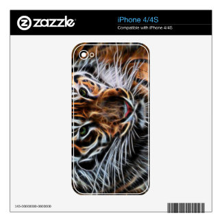 Thoughtful Tiger Decals For The iPhone 4