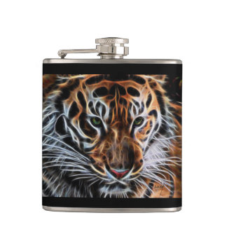 """Thoughtful Tiger"" Flask"