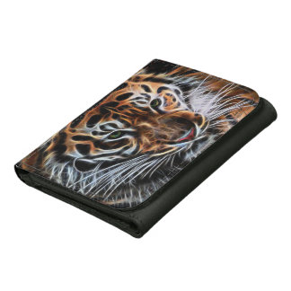 Thoughtful Tiger Leather Trifold Wallets