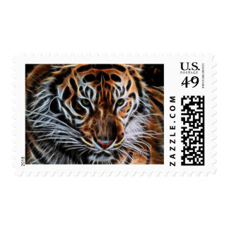 Thoughtful Tiger Postage