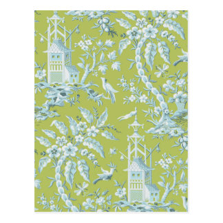 Thoughtful Toile Postcard