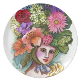 Thoughts Abloom Melamine Plate