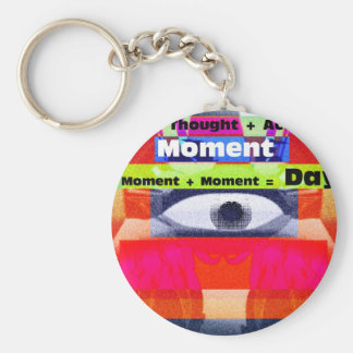 Thoughts and Actions equal Moments =Days Basic Round Button Keychain