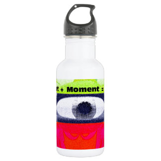 Thoughts and Actions equal Moments =Days Stainless Steel Water Bottle