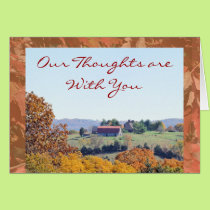 Thoughts are with You-any occasion Card