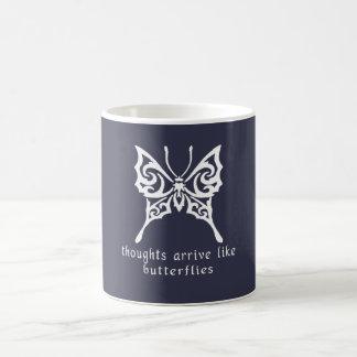 Thoughts Arrive Like Butterflies Coffee Mug
