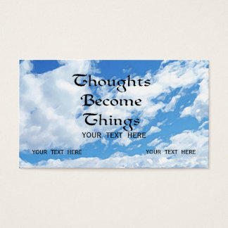 Thoughts Become Things Positive Themed Card