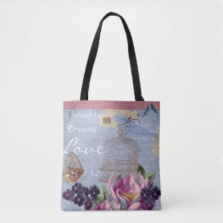 Thoughts, Dreams, Love. Vintage - Handbag/Tote Tote Bag