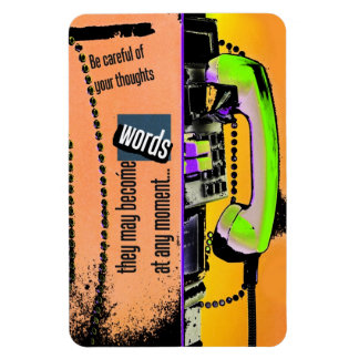 thoughts into words magnet