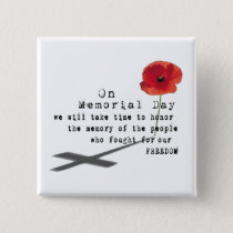 Thoughts Memorial Day Buttons