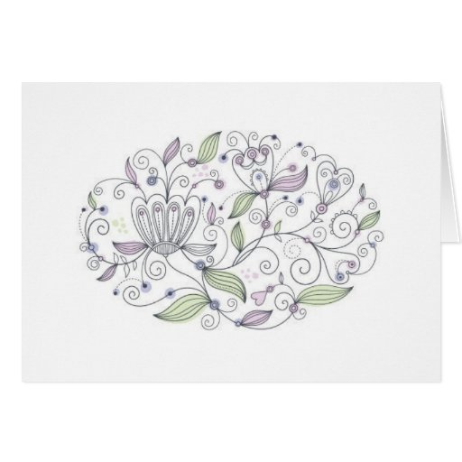 Thoughts Of Lavender Stationery Note Card