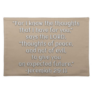 Thoughts of Peace and Not of Evil Cloth Place Mat