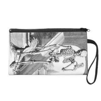 Thoughts on Death a gothic wristlet purse