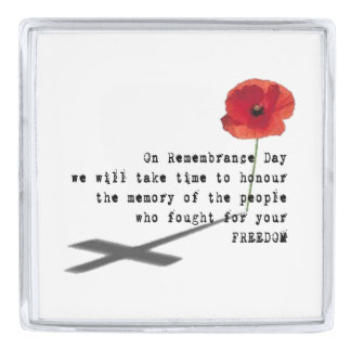 Thoughts Remembrance Day Lapel Pin