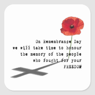 Thoughts Remembrance Day Stickers