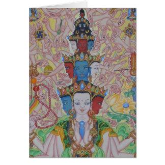 Thousand-Armed Avalokiteshvara Greeting Card