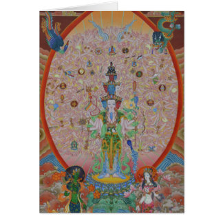 Thousand-Armed Avalokiteshvara Greeting Card