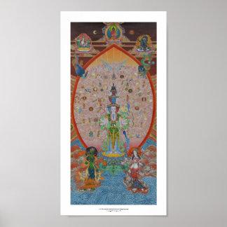 Thousand-Armed Avalokiteshvara Poster