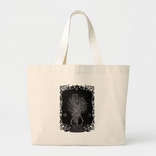 Thousand Armed Goddess of Mercy shie background at Tote Bag