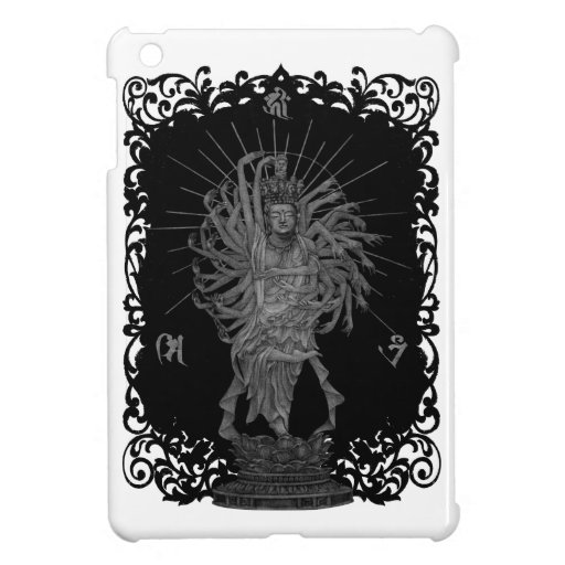 Thousand Armed Goddess of Mercy shie background at iPad Mini Covers