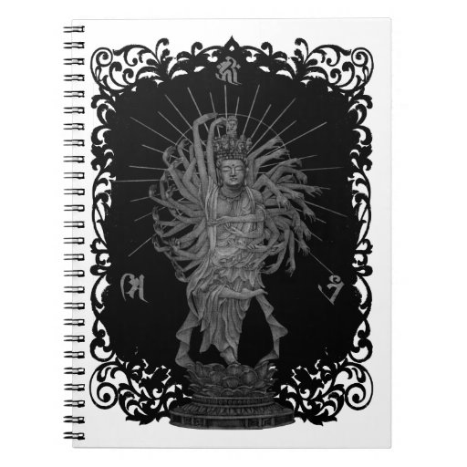 Thousand Armed Goddess of Mercy shie background at Notebooks