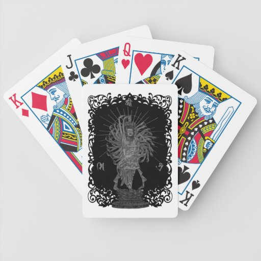 Thousand Armed Goddess of Mercy shie background at Bicycle Card Deck