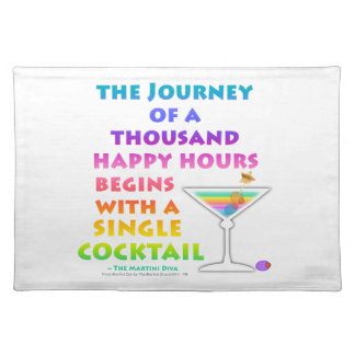 THOUSAND HAPPY HOURS PLACEMAT