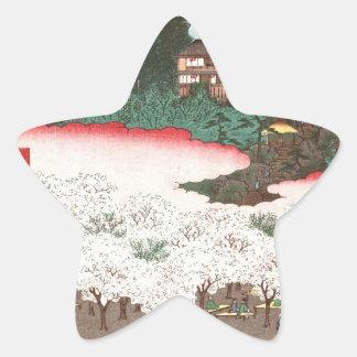 Thousand inferior wooden dumpling hill flower shop star sticker