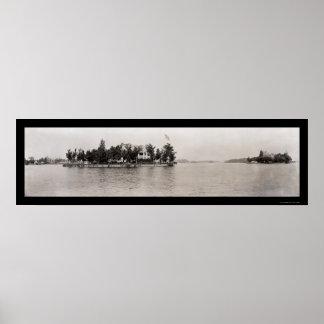Thousand Islands, New York Photo 1909 Poster
