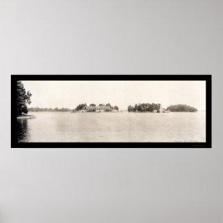 Thousand Islands NY Photo 1909 Print