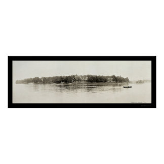 Thousand Islands NY Photo 1909 Poster