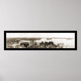 Thousand Islands NY Photo 1912 Print