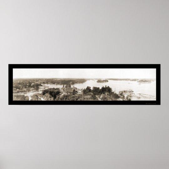 Thousand Islands NY Photo 1912 Poster