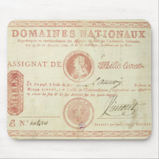 Thousand livre banknote with Louis XVI's Mouse Pad