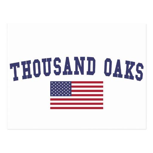 Sofa You Love Thousand Oaks: Thousand Oaks US Flag Postcard