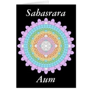 Thousand Petal Lotus Mandala as a Greeting Card