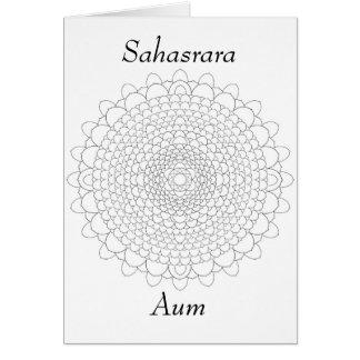 Thousand Petal Lotus Mandala Card
