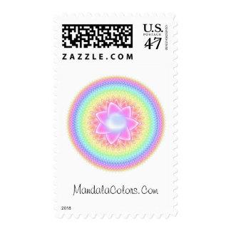 Thousand Petals Rainbow Mandala Stamp