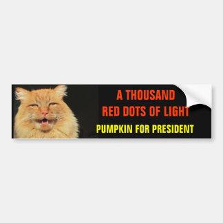 Thousand Red Dots of Light Pumpkin for President Bumper Sticker