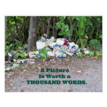 """""""Thousand Word"""" picture of the results of litter. Print"""