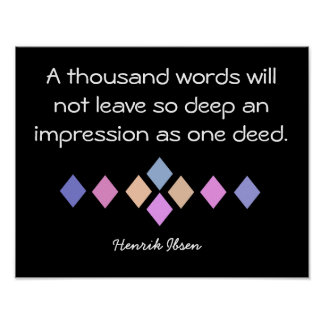 Thousand Words - poster art - Ibsen quote