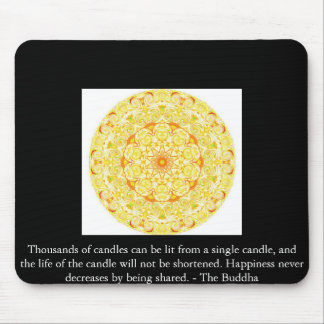 Thousands of candles can be lit from a single..... mouse pad